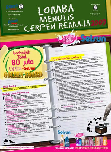 Lomba Menulis Cerpen Remaja (LMCR-2009)