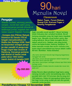 90 Hari Menulis Novela, Novel dan Novel Grafis