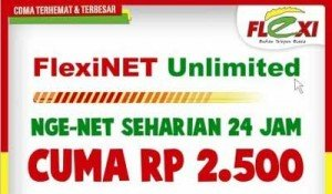 Tarif Internet Murah Dengan Flexinet Unlimited