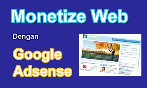 Paket Monetize Web Dengan Google Adsense
